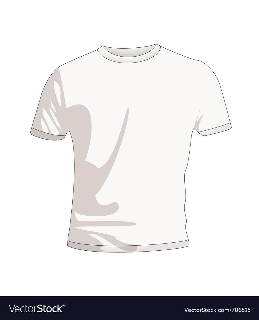 192c13f2a77 Plain white t shirt Royalty Free Vector Image - VectorStock