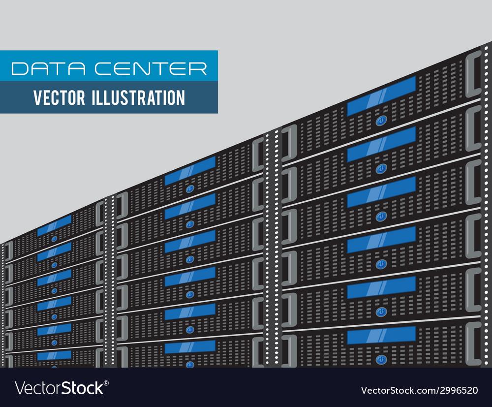 Data Center Design Royalty Free Vector Image Vectorstock