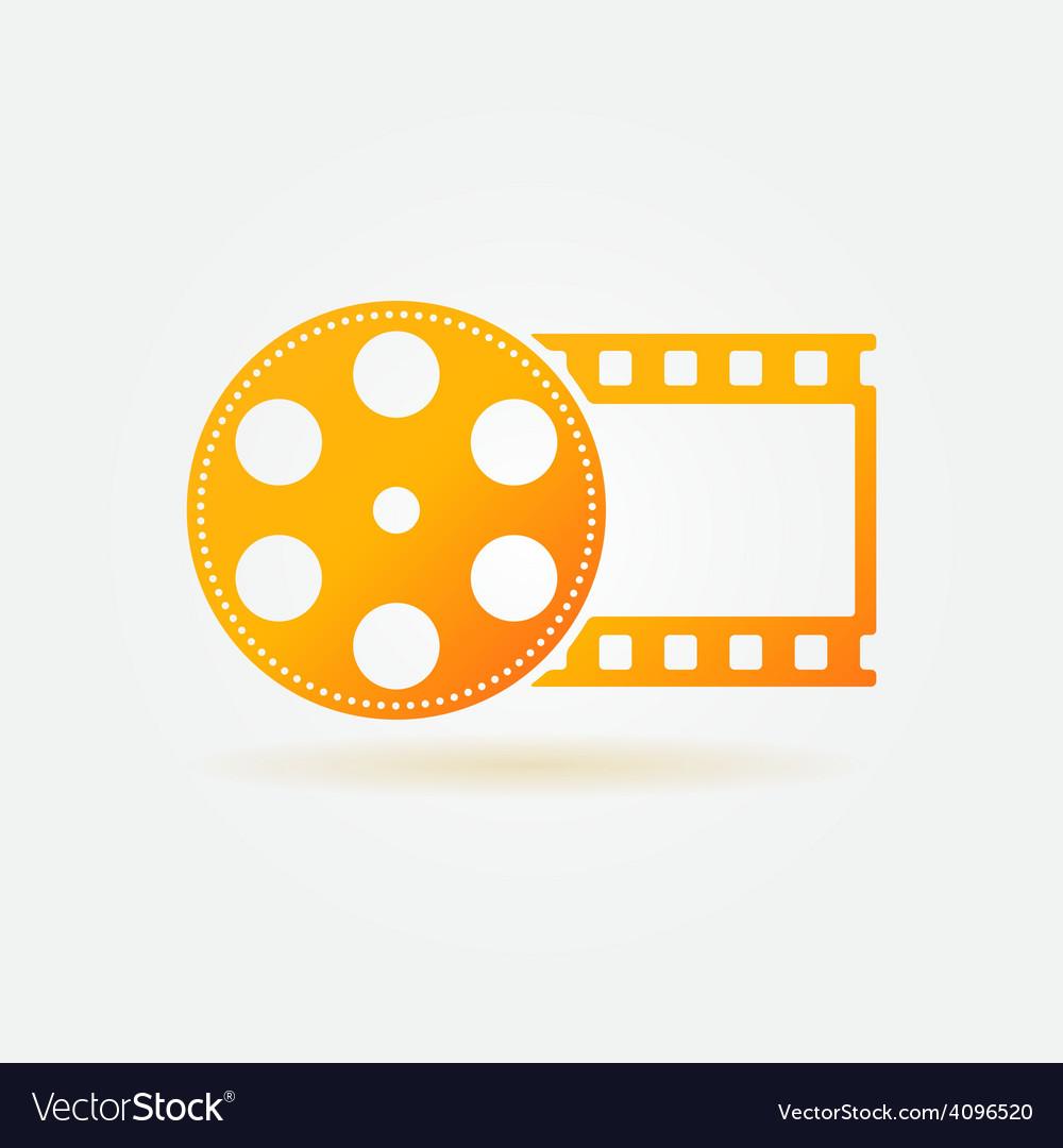 Gold cinema or movie logo