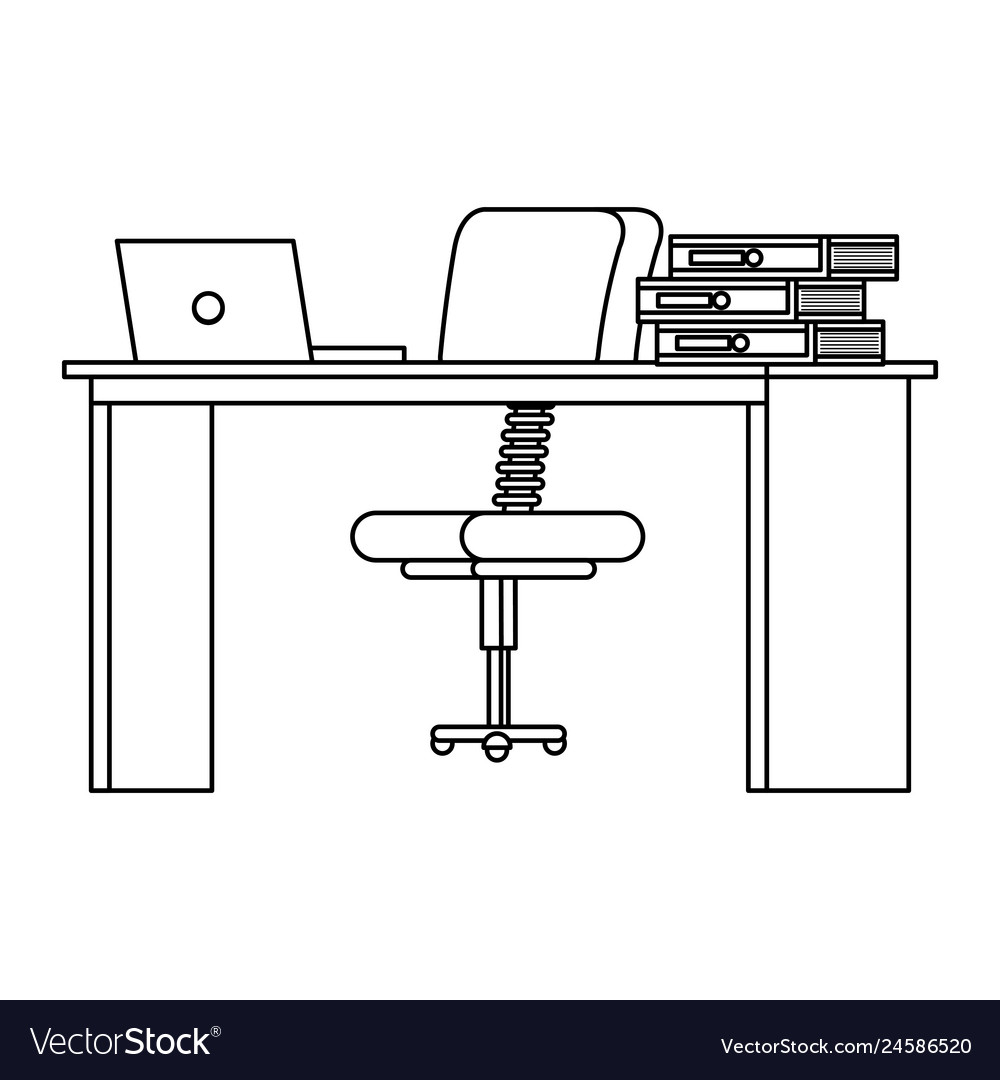 Surprising Office Desk With Laptop And Books Workplace Scene Interior Design Ideas Clesiryabchikinfo