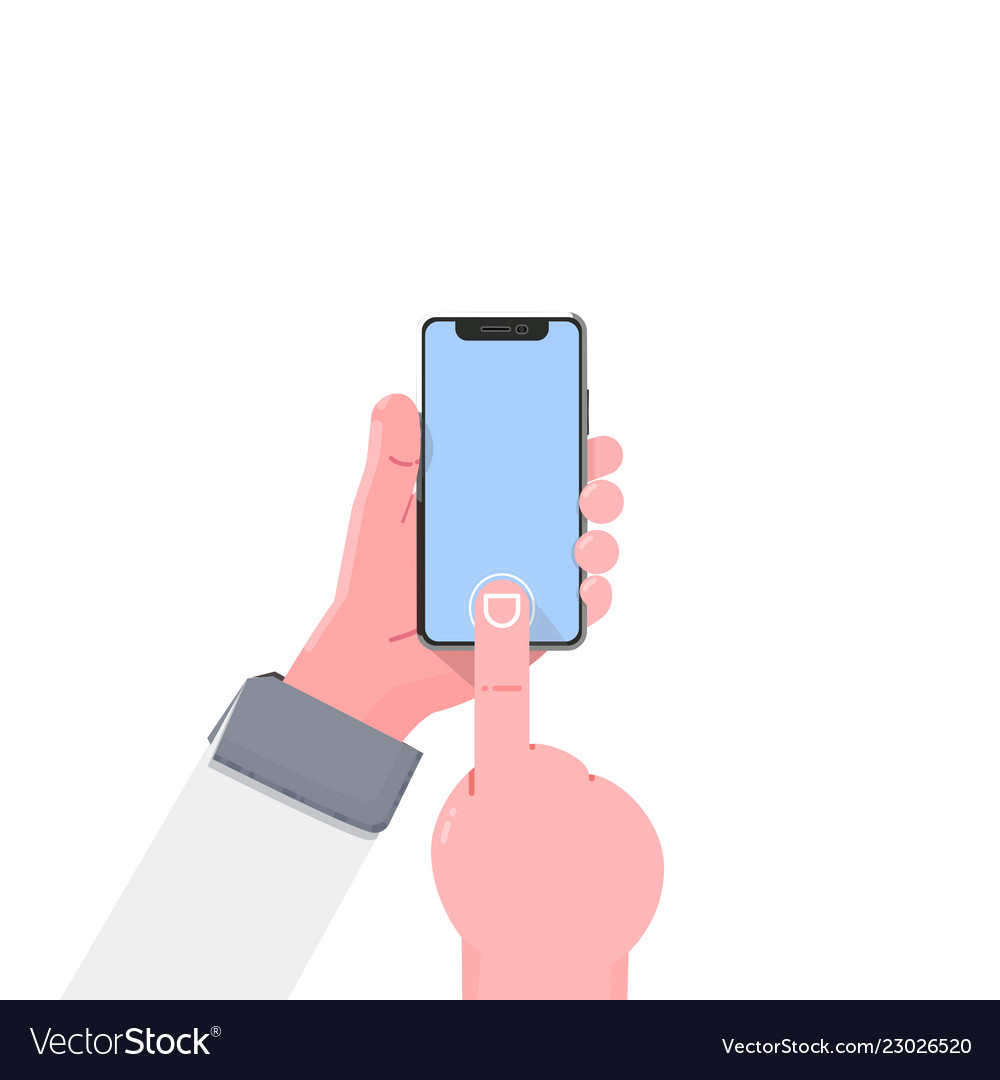 Smartphone hand modern flat with