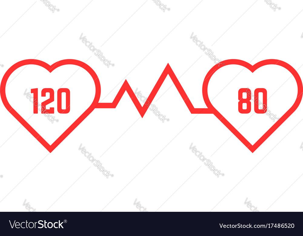 Thin line blood pressure icon