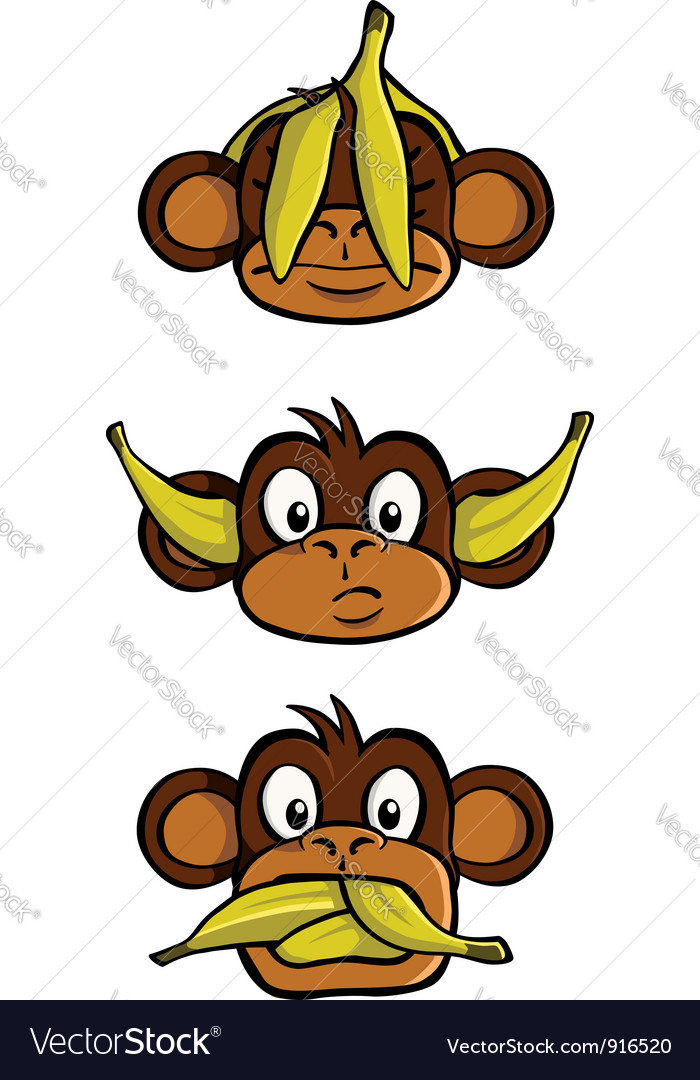 Three wise monkeys vector image