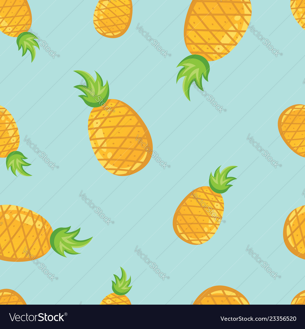 Tropical fruit pineapples pattern