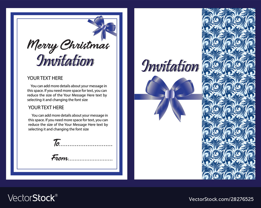 Christmas Banner And Invitation Card In New Design