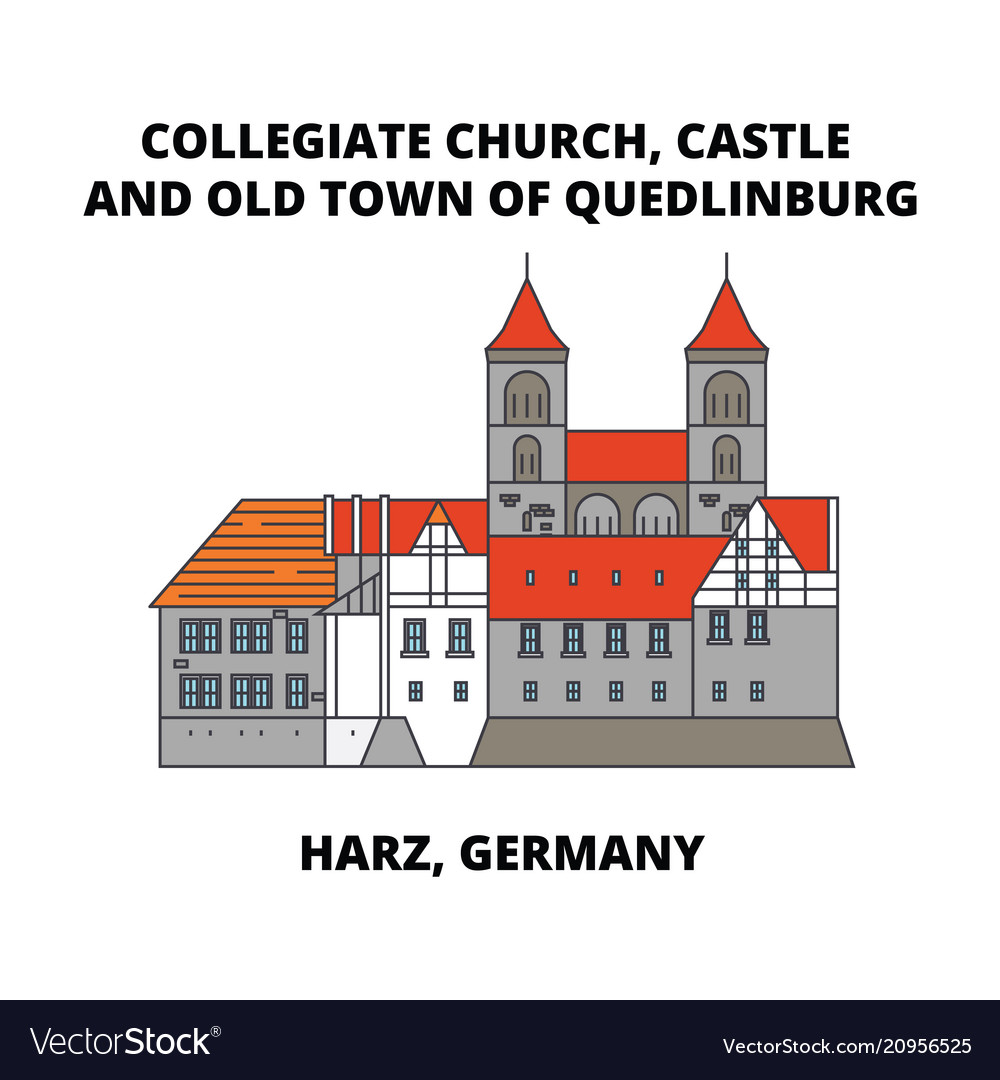 Collegiate church castle and old town of