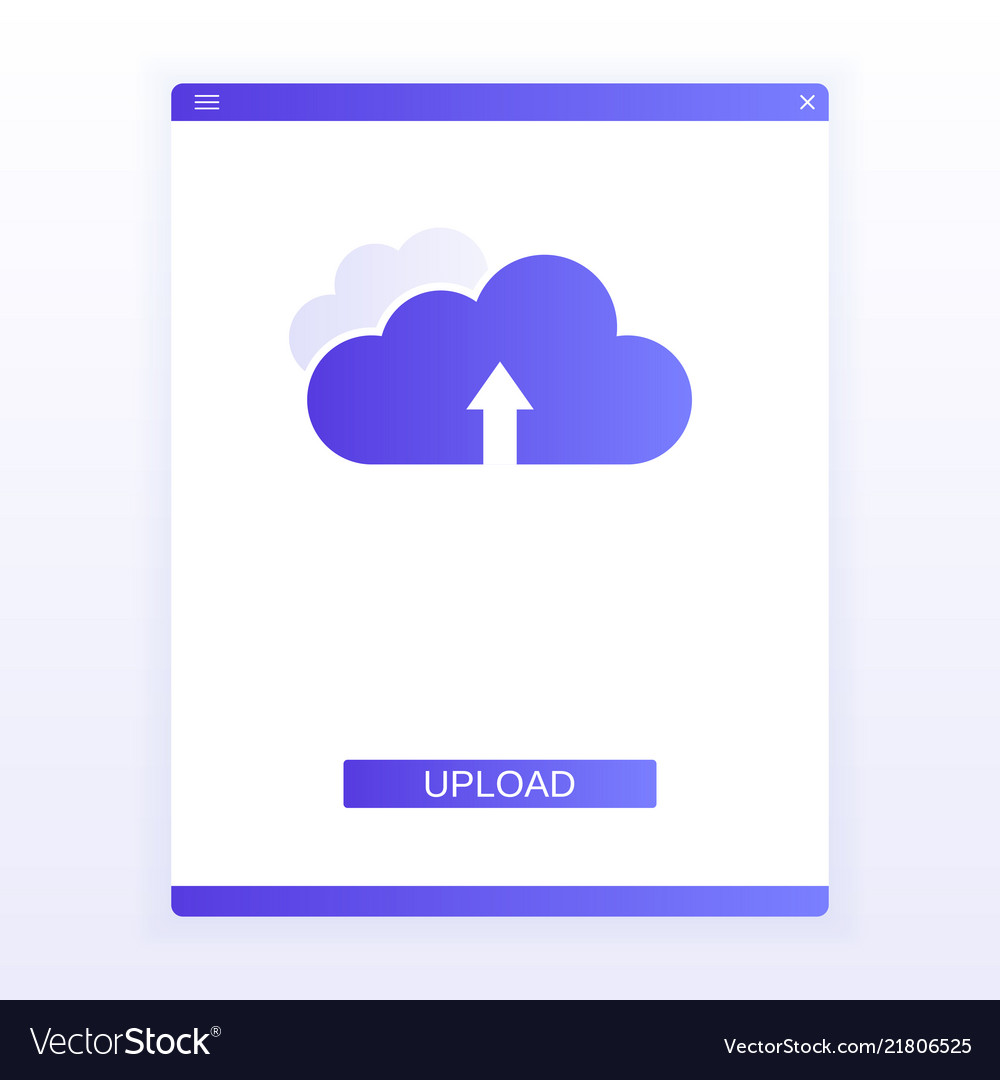 Concept website page upload to cloud