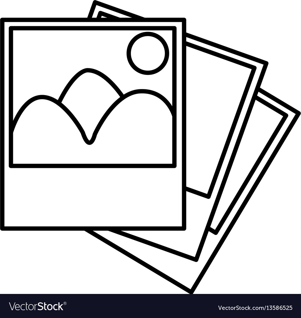 Figure pictures photos icon vector image