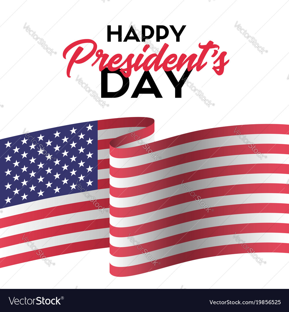 Happy presidents day greeting card