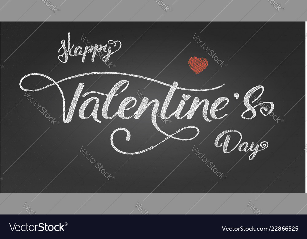Happy valentines day greetings poster with design