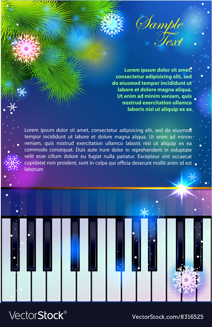 New Year Piano