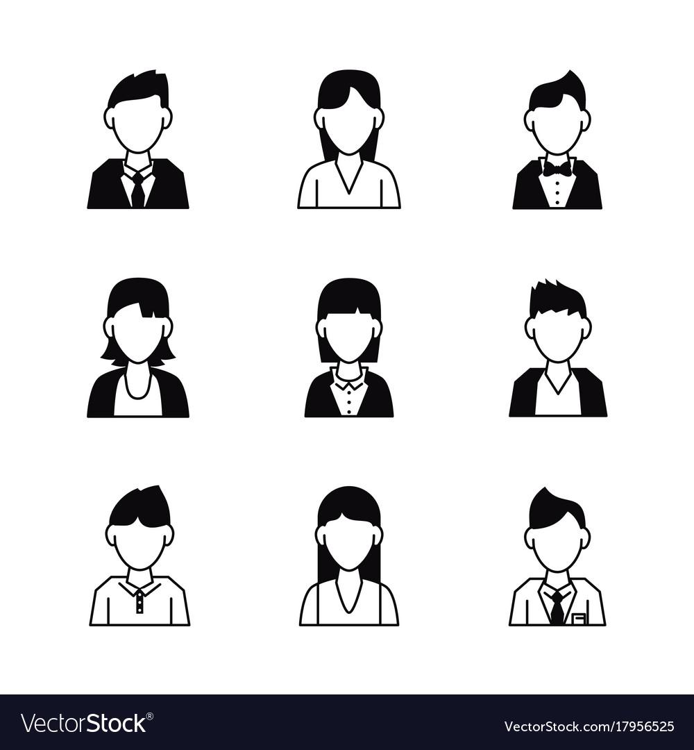 People avatar icons