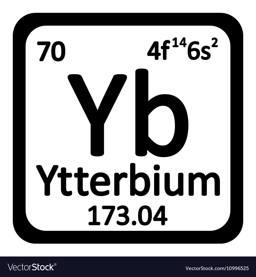 Periodic table element ytterbium icon royalty free vector periodic table element ytterbium icon vector image urtaz Images