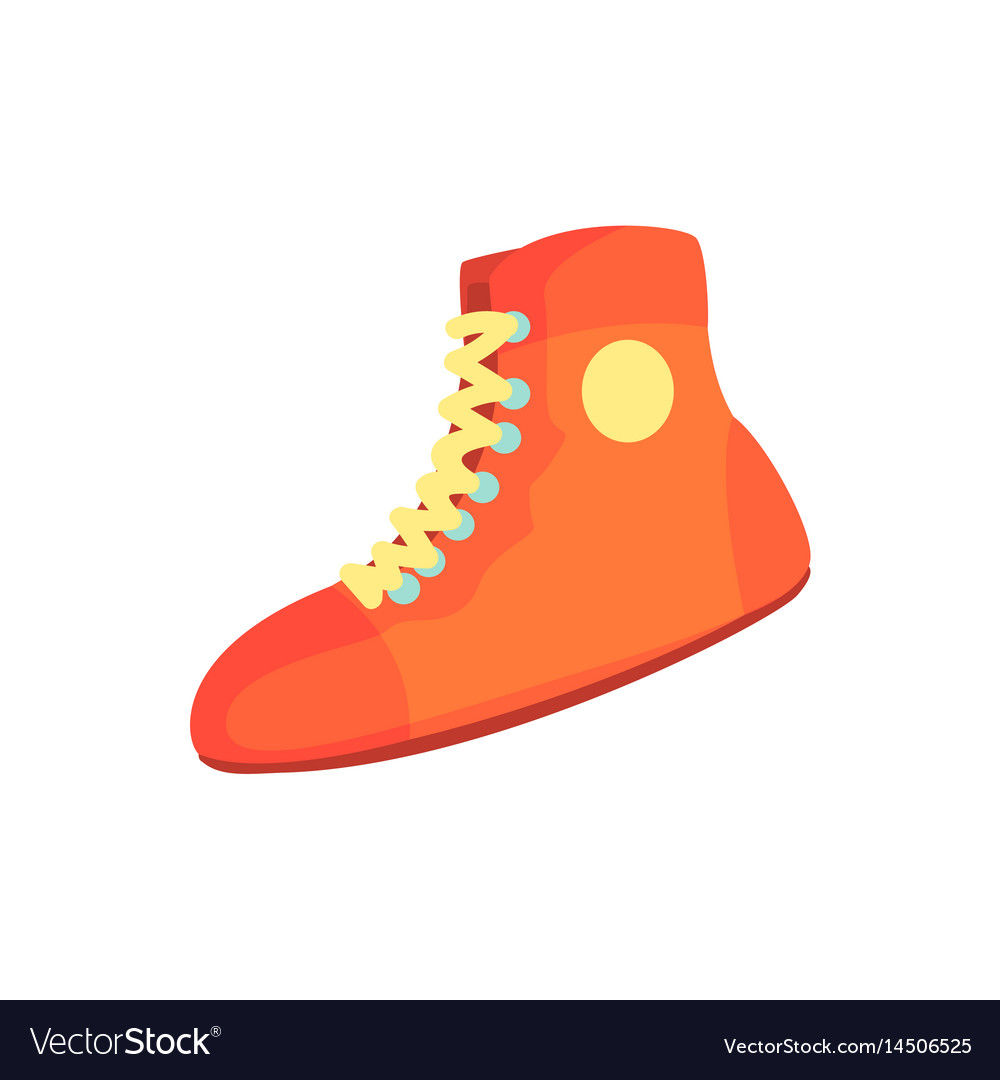 Red boxing shoes sports equipment colorful vector image