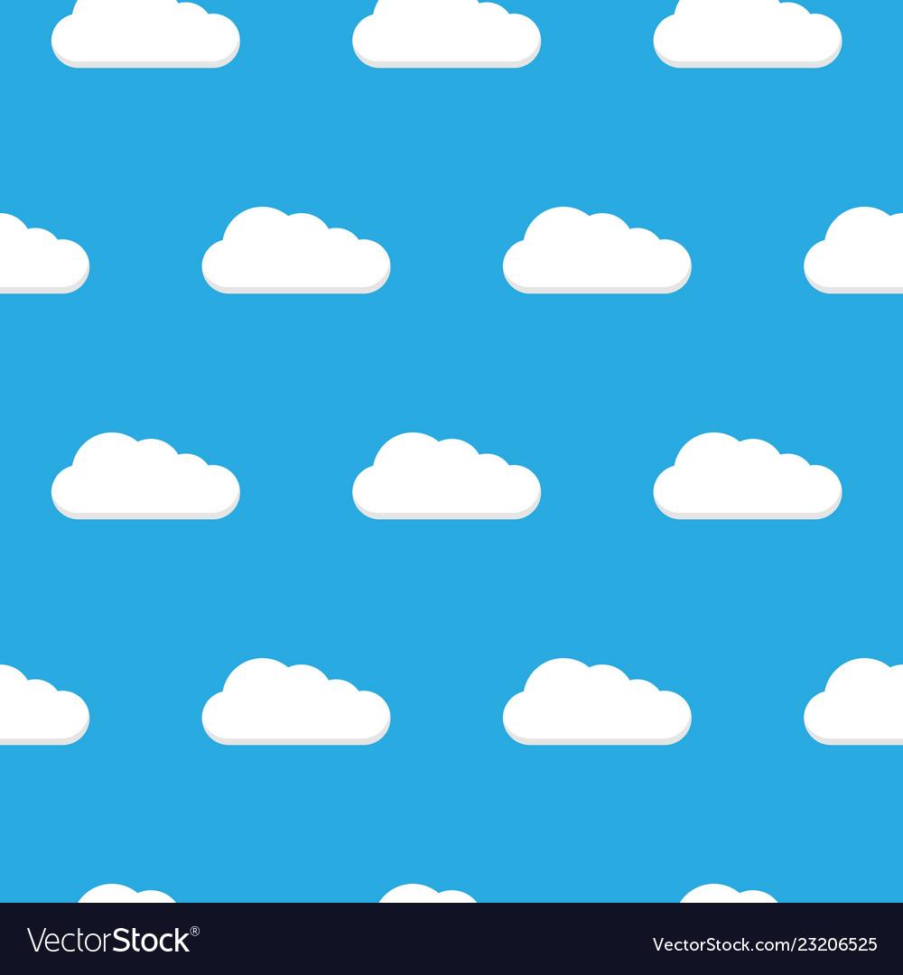 Seamless pattern clouds white clouds pattern