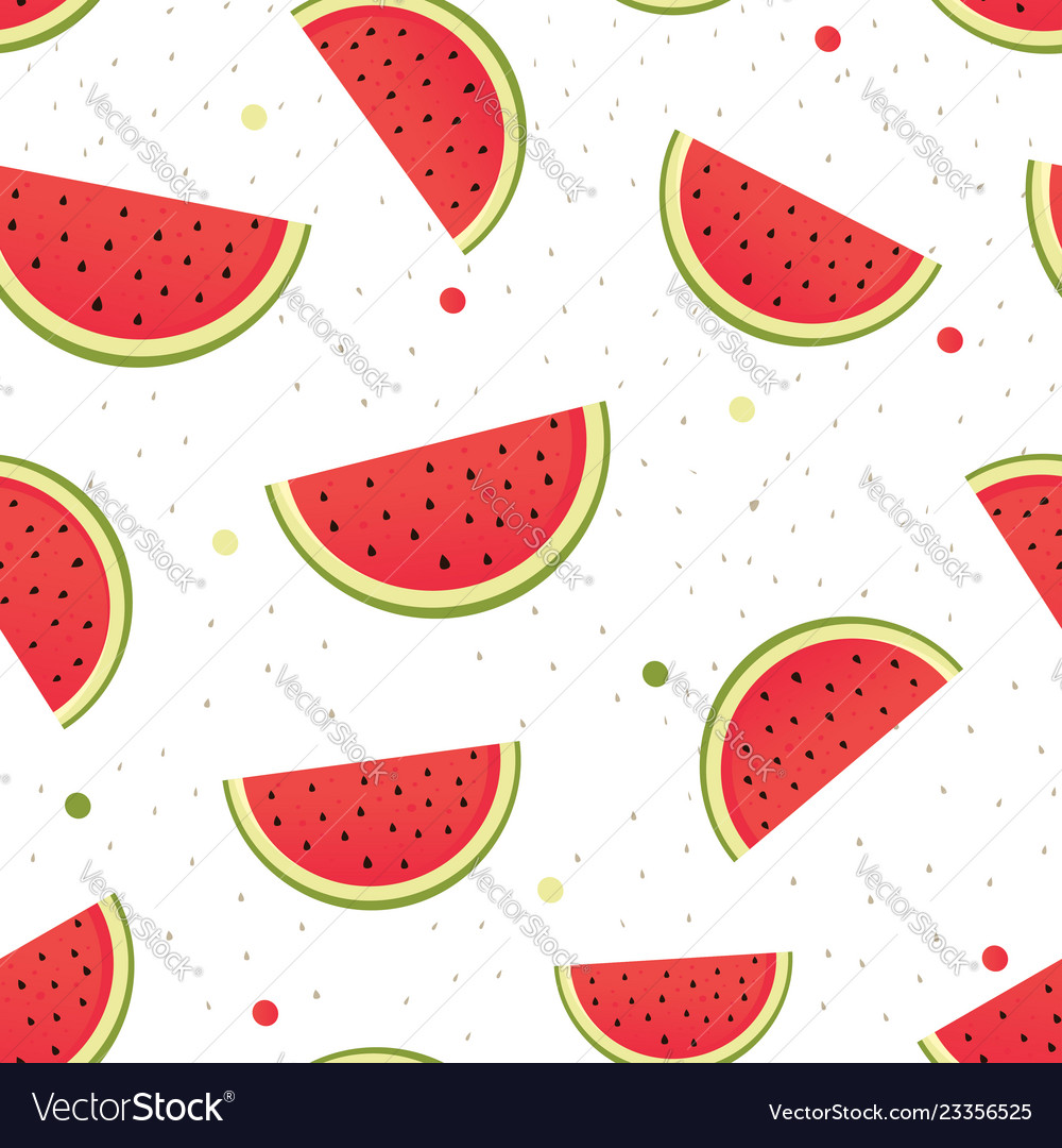 Seamless watermelons pattern
