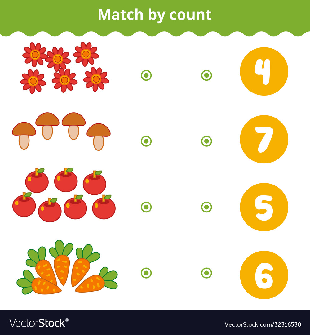 Counting game for preschool children count