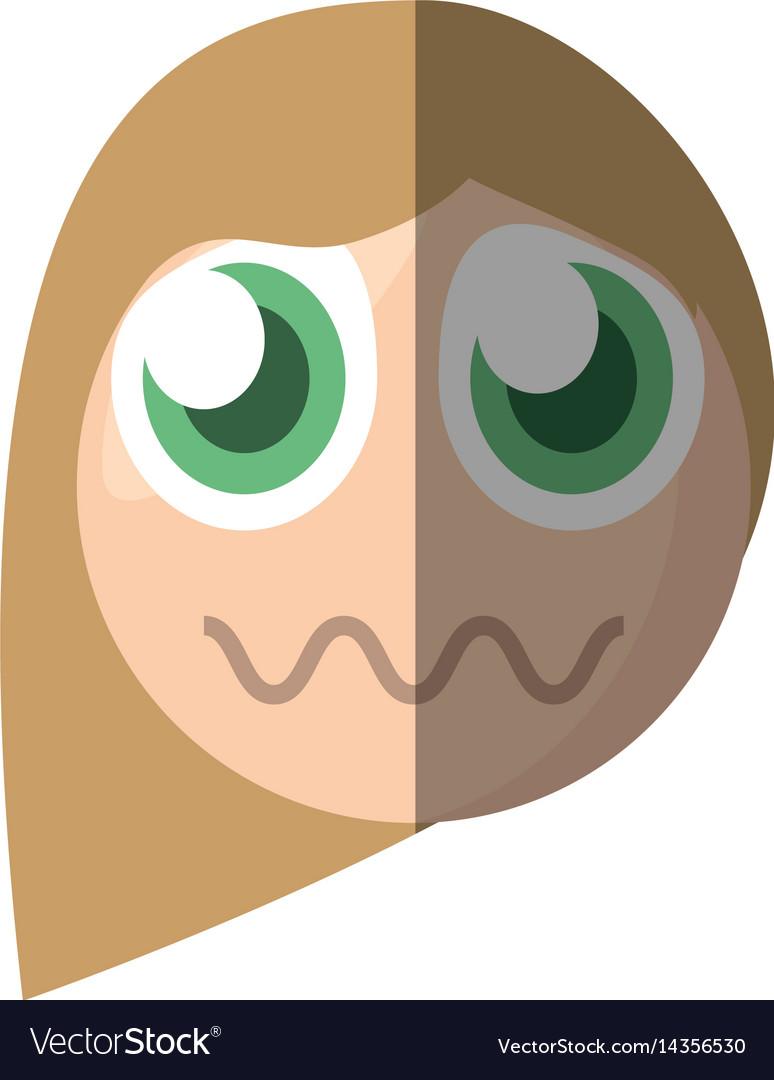 Emoticon sad cartoon design