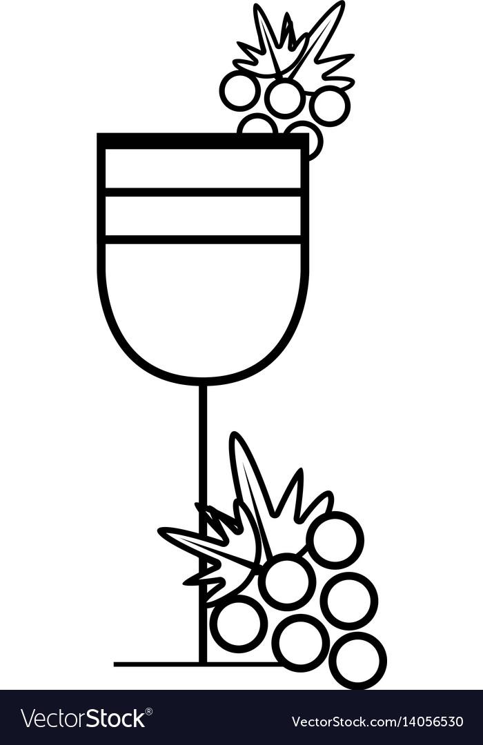Figure wine glass with grape fruit
