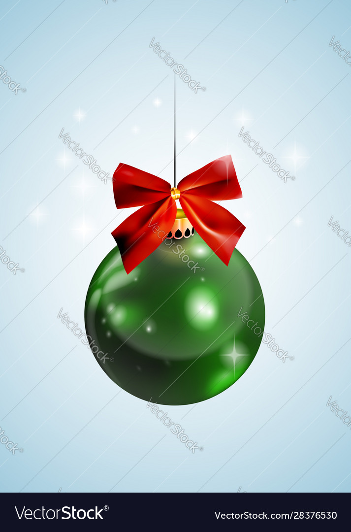 Graphic realistic shiny new year christmas ball