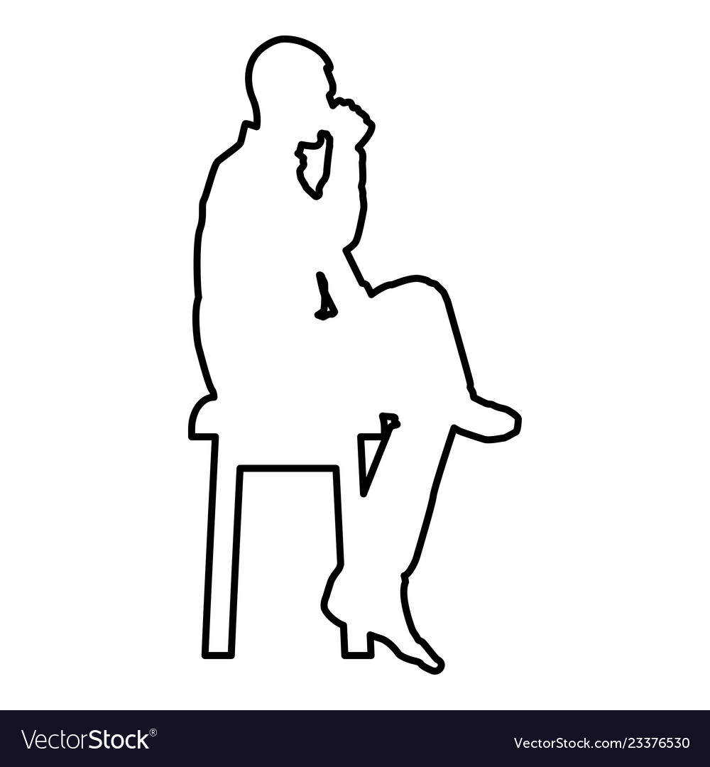 Terrific Man Drinking From Mug Sitting On Stool With Vector Image Forskolin Free Trial Chair Design Images Forskolin Free Trialorg