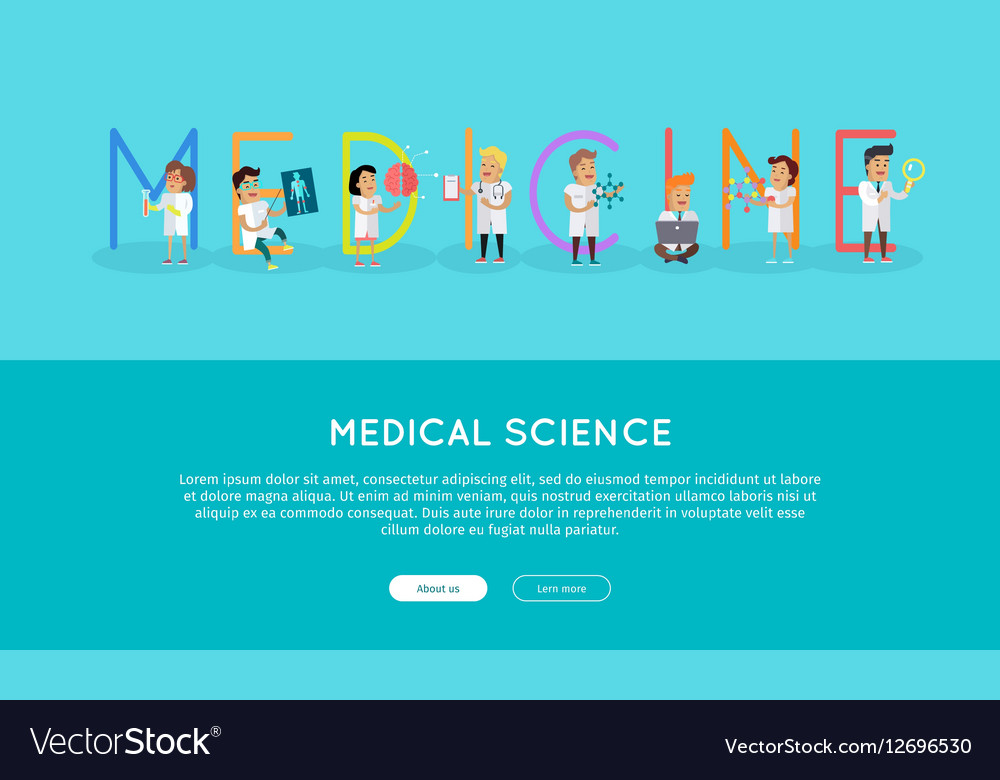 Medicine Banner Science Alphabet