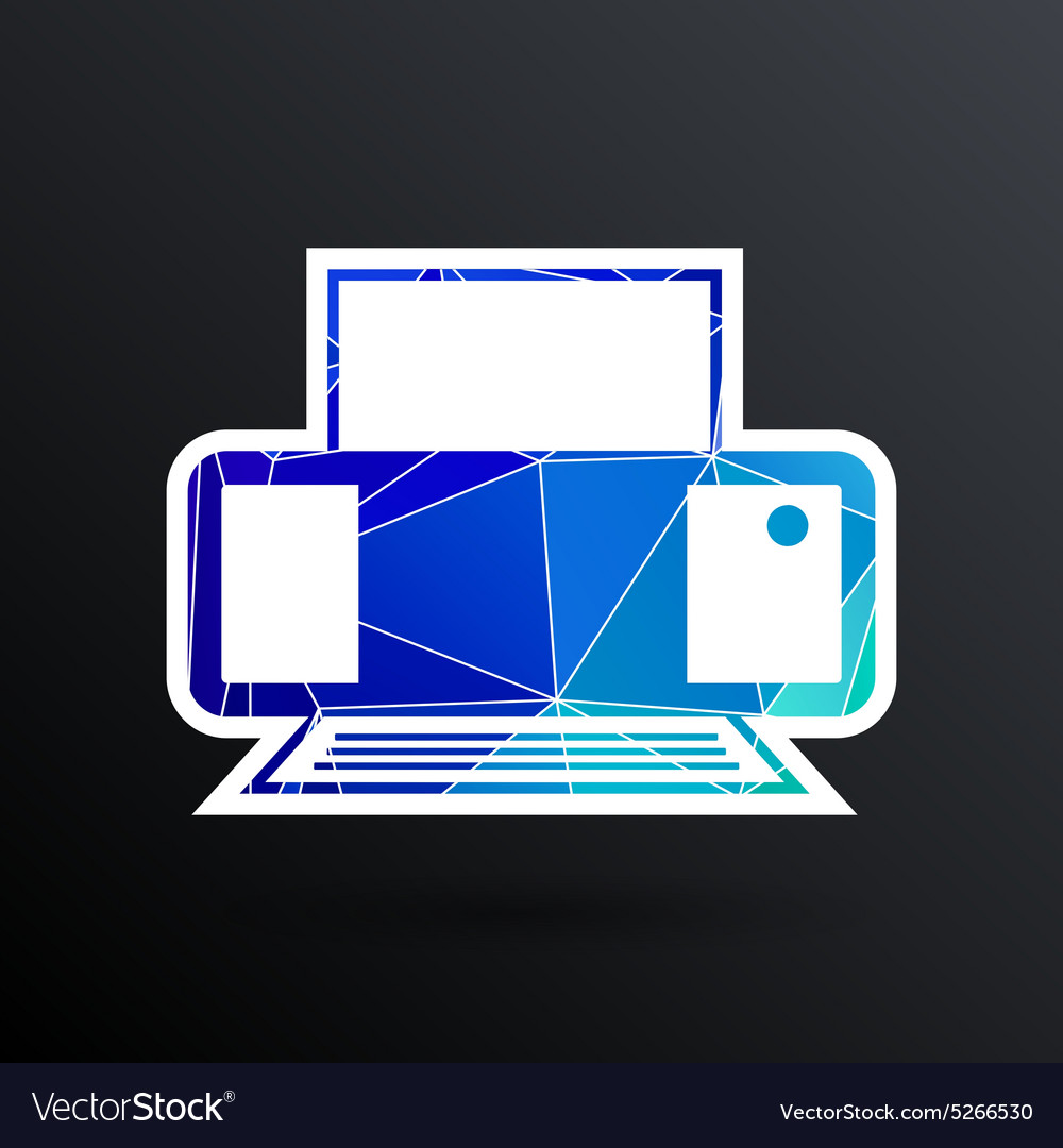Printer icon document print fax vector image
