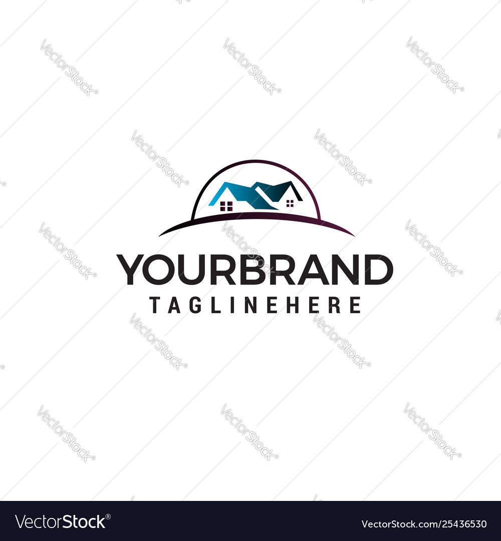 Real estate logo design concept template