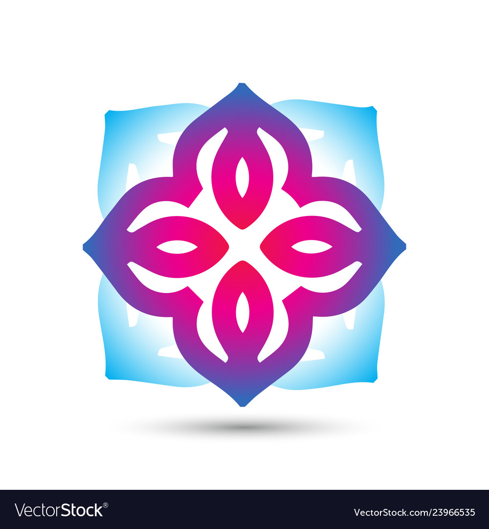 Abstract elegant flower logo icon design