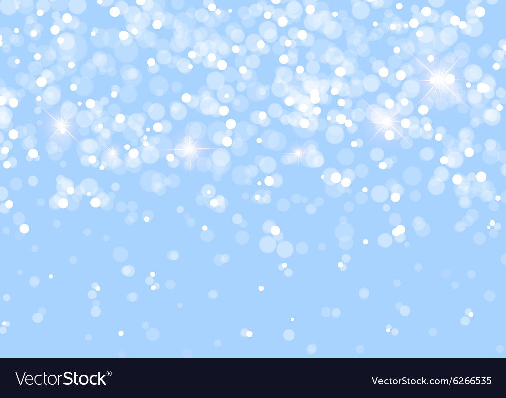 Abstract Lights on Blue Background