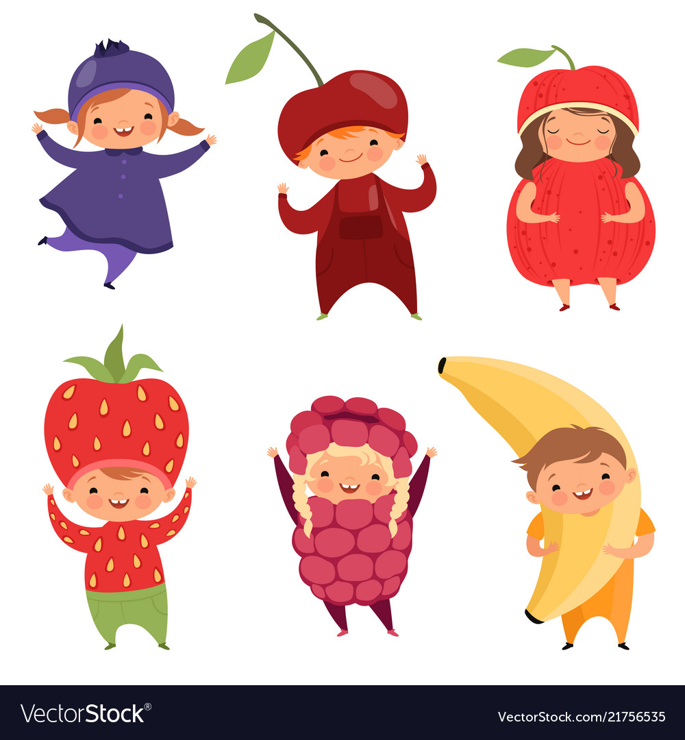 Fruits costumes carnival clothes for children