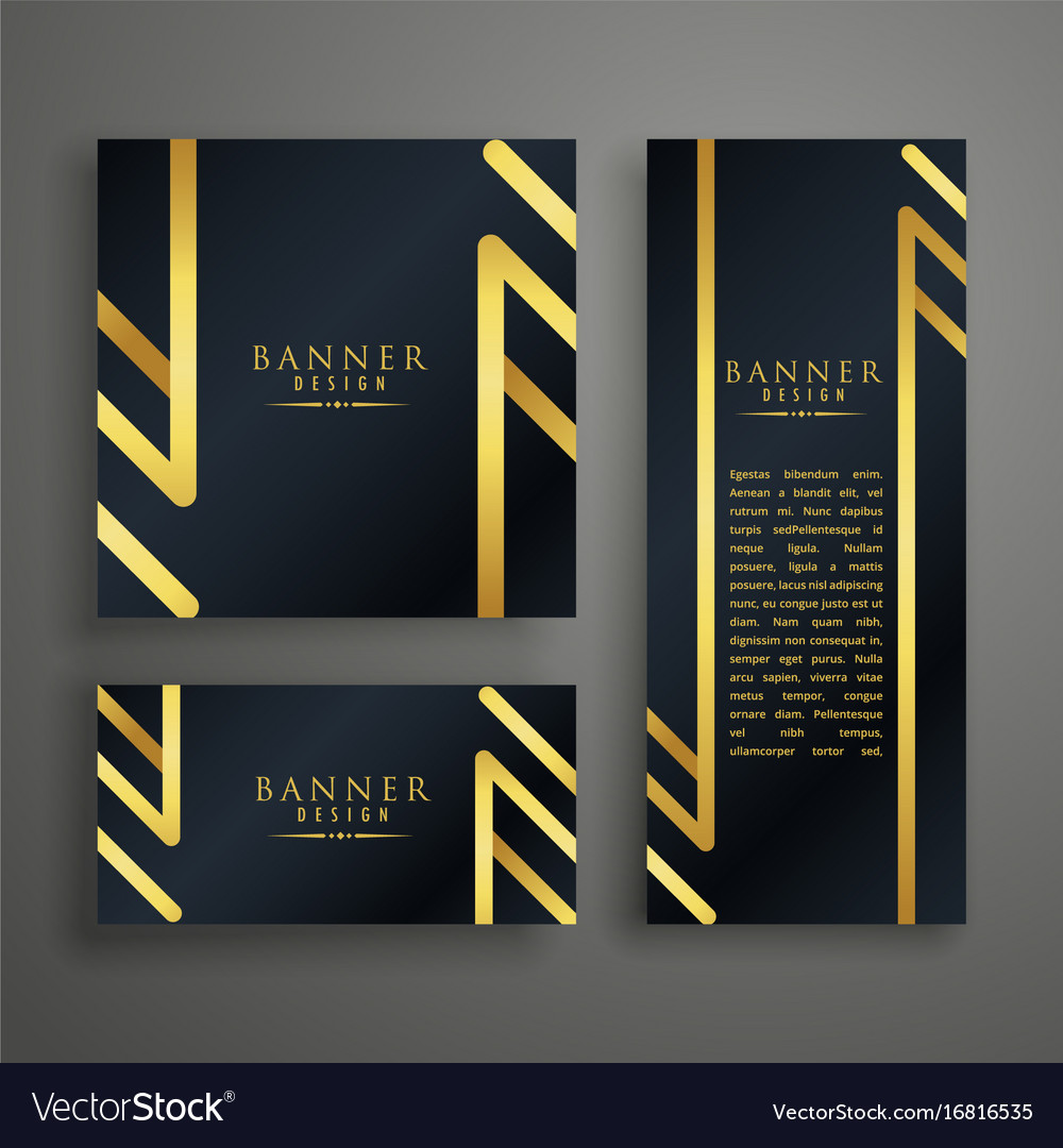 Golden premium invitation card design template Vector Image