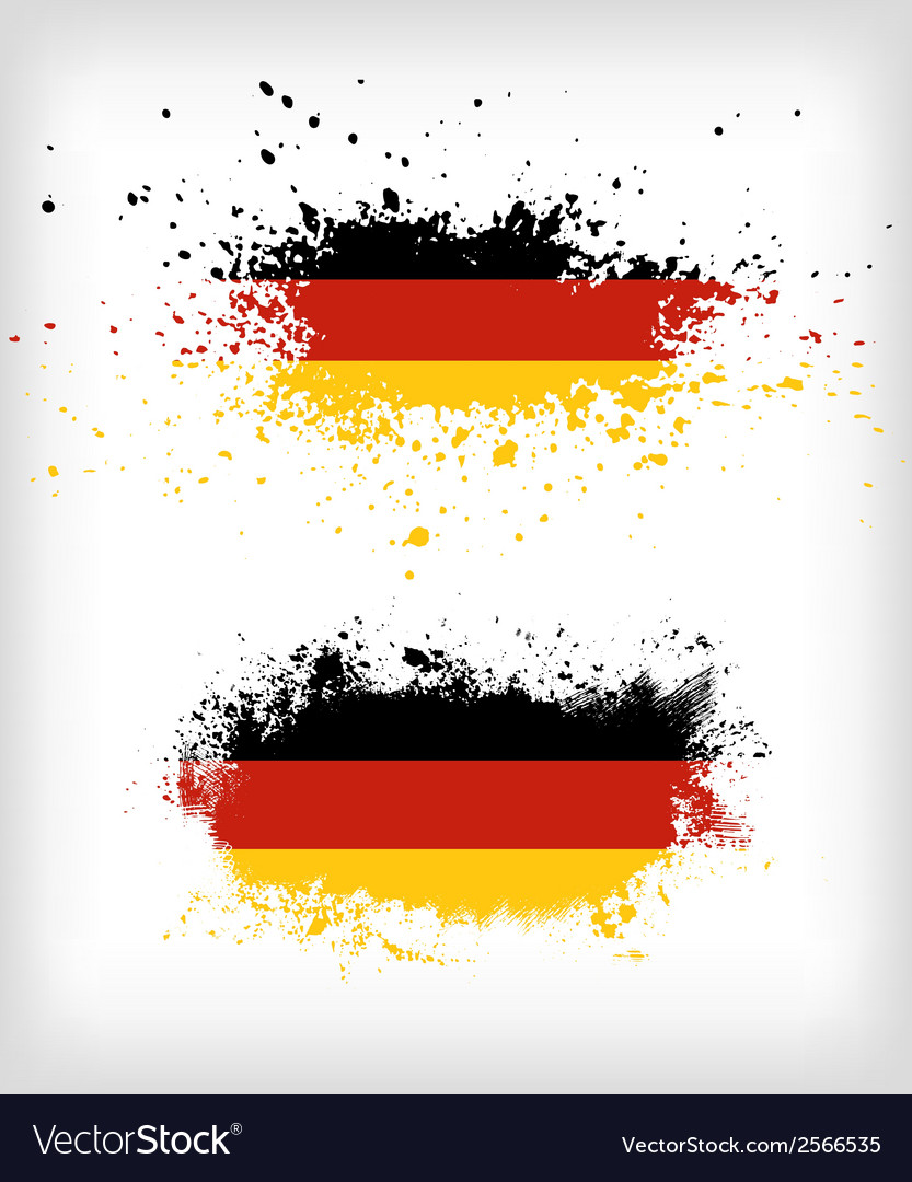 Grunge german ink splattered flag