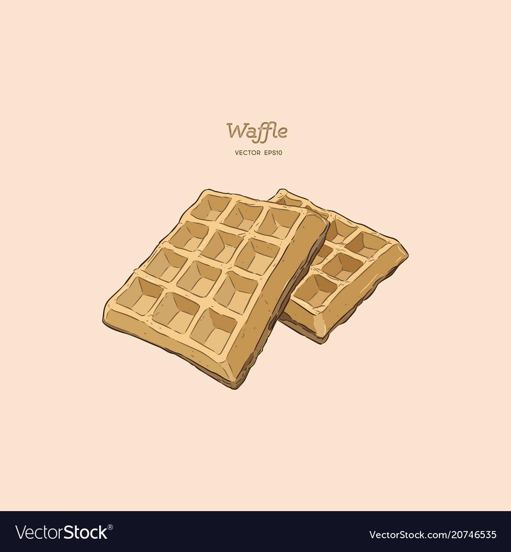 Waffles hand draw sketch