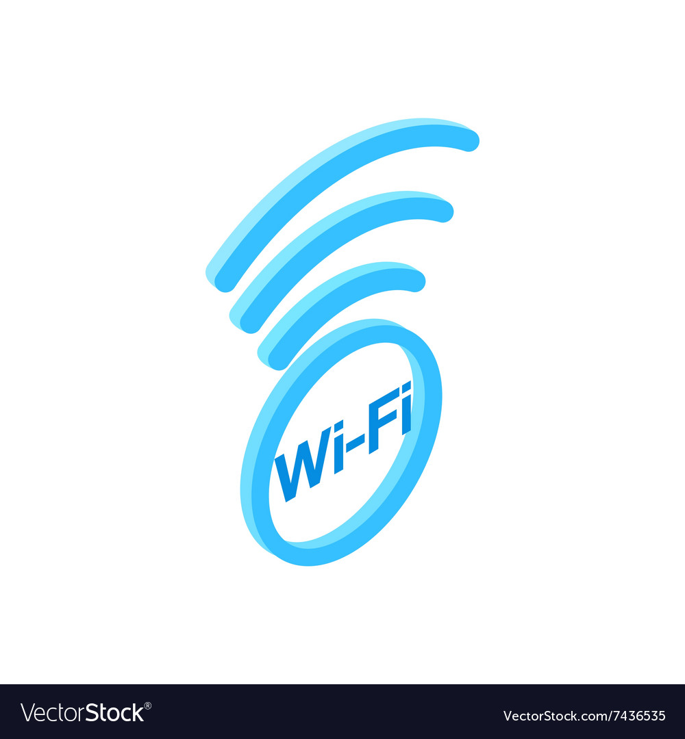 Wi fi zone isometric 3d icon