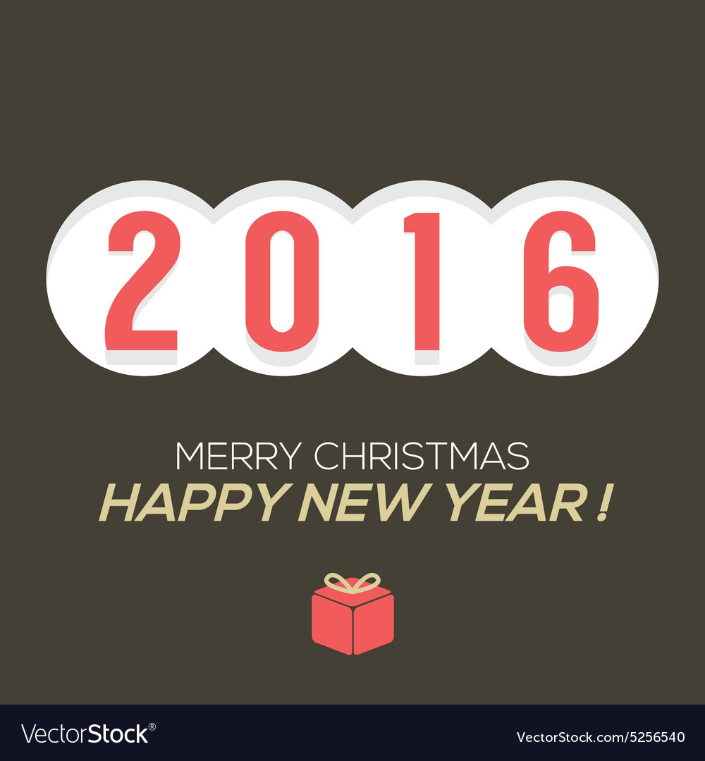 2016 Vintage New Year Card
