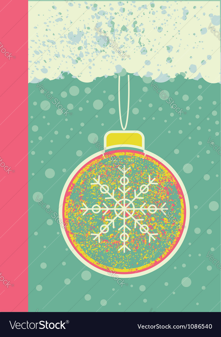 Abstract christmas card on snow background with vector image