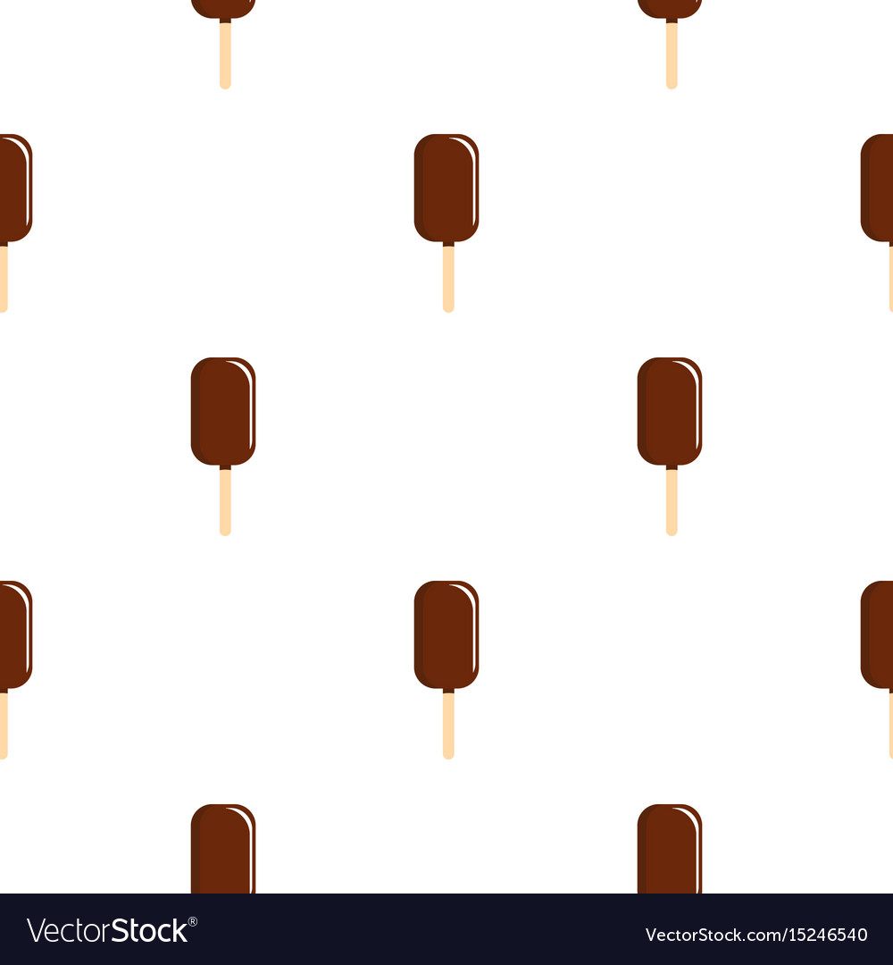 Chocolate ice cream on wooden stick pattern