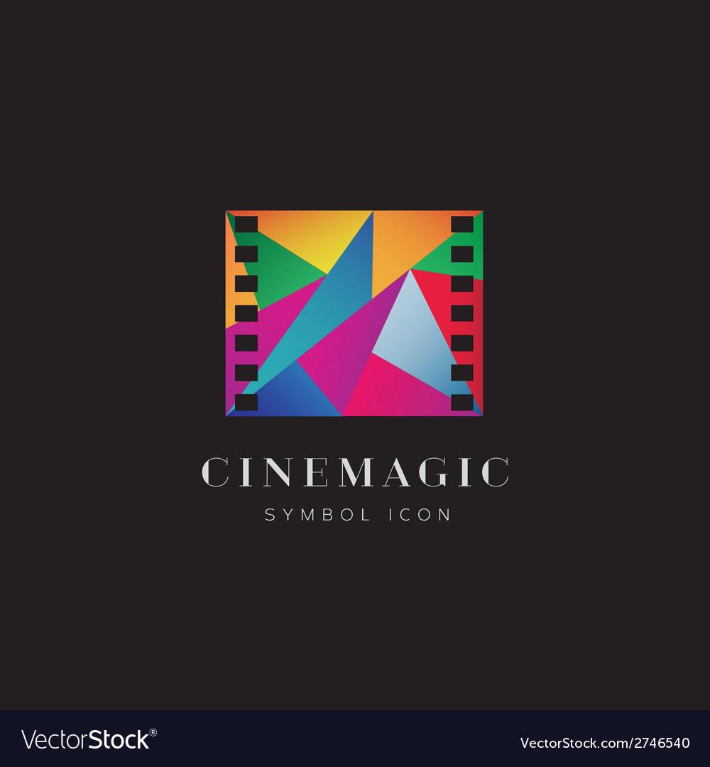 Cinema Magic Abstract Concept Symbol Icon or Logo