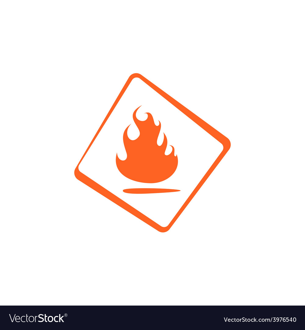 Flammable vector image