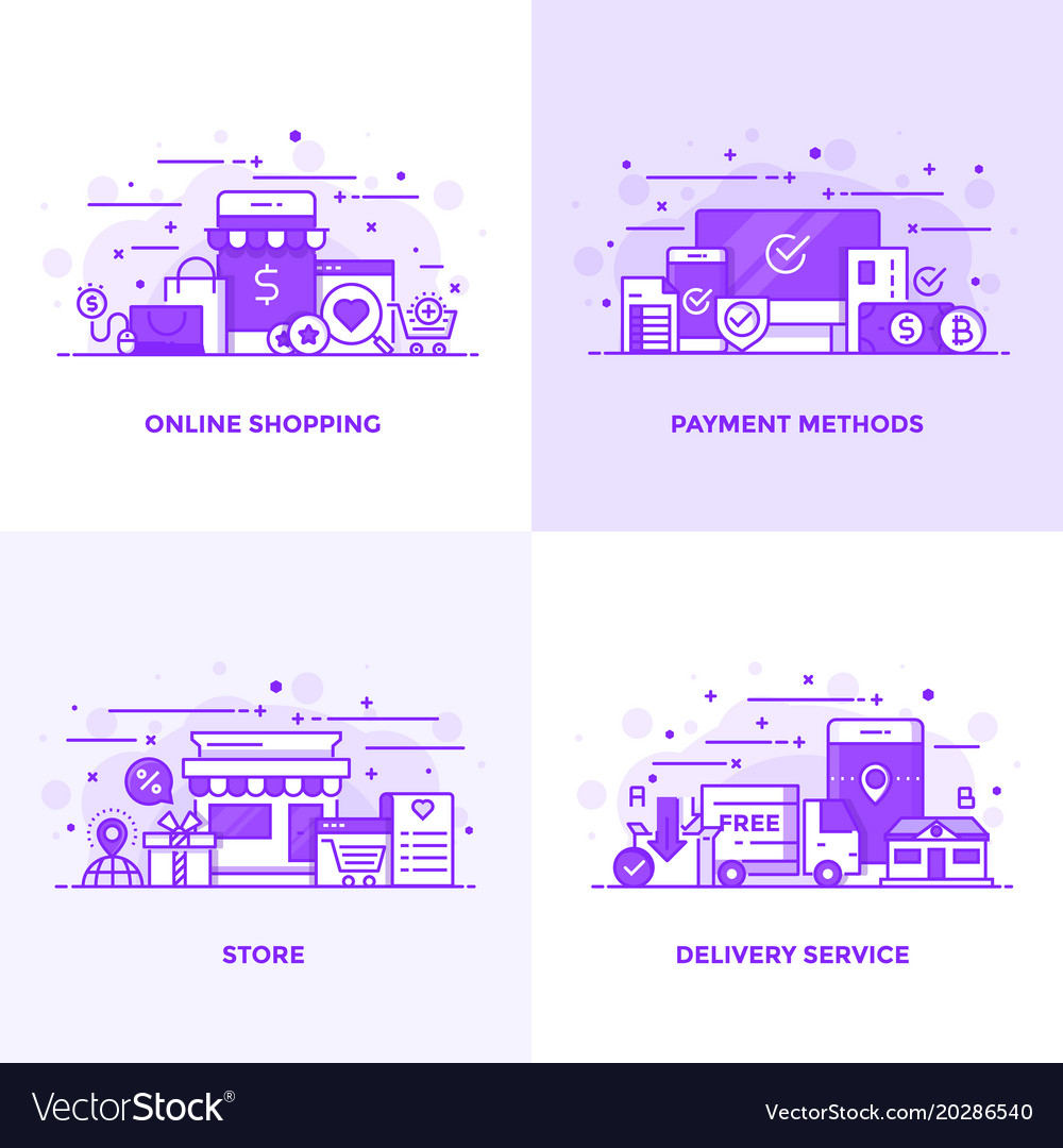 Flat line purple designed concepts 14