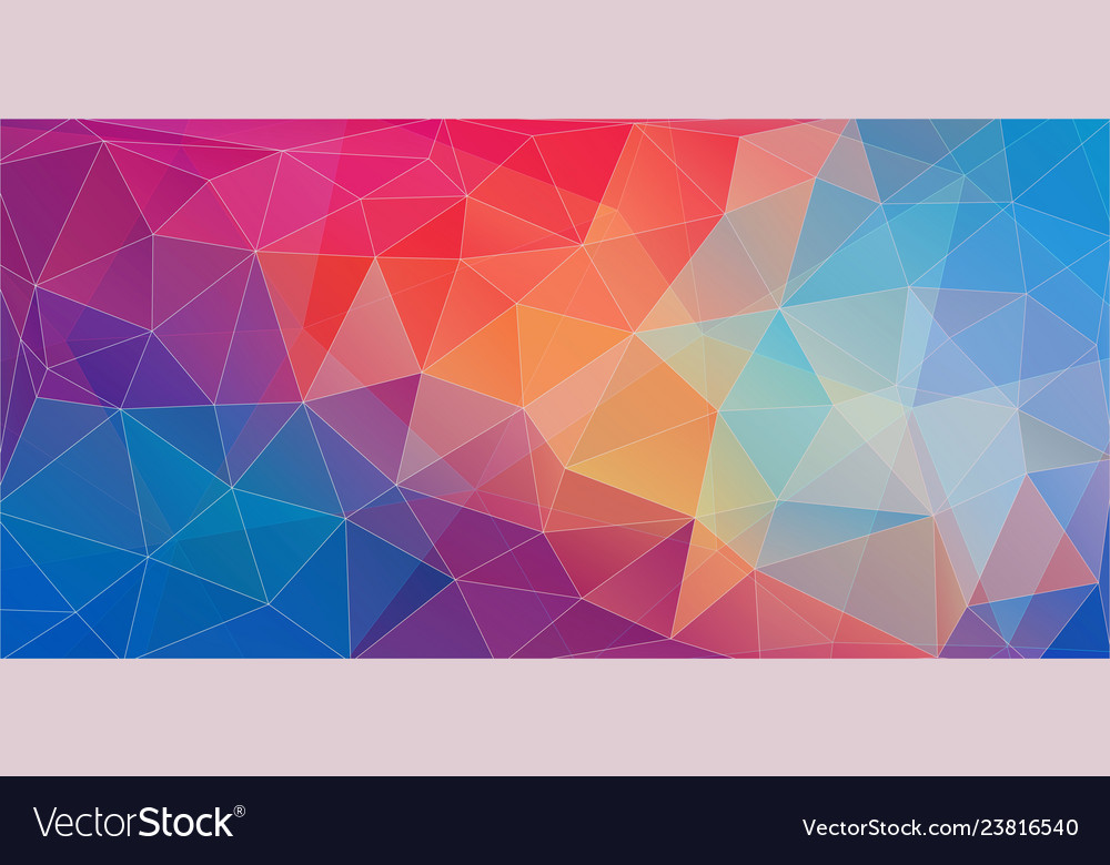 Flat Triangle Color Geometric Wallpaper For Your Vector Image