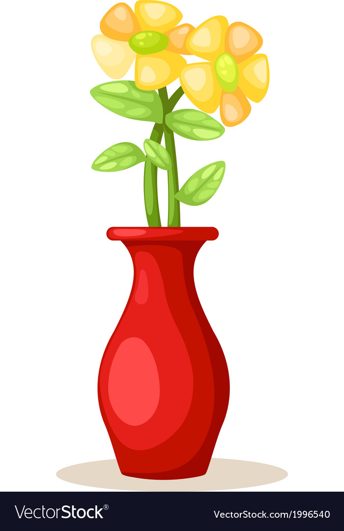 Flower In Vase Royalty Free Vector Image Vectorstock