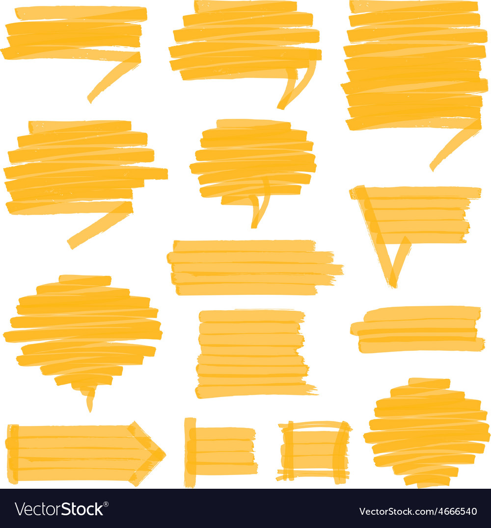 Highlighter Shaded Speech Bubbles Design Elements
