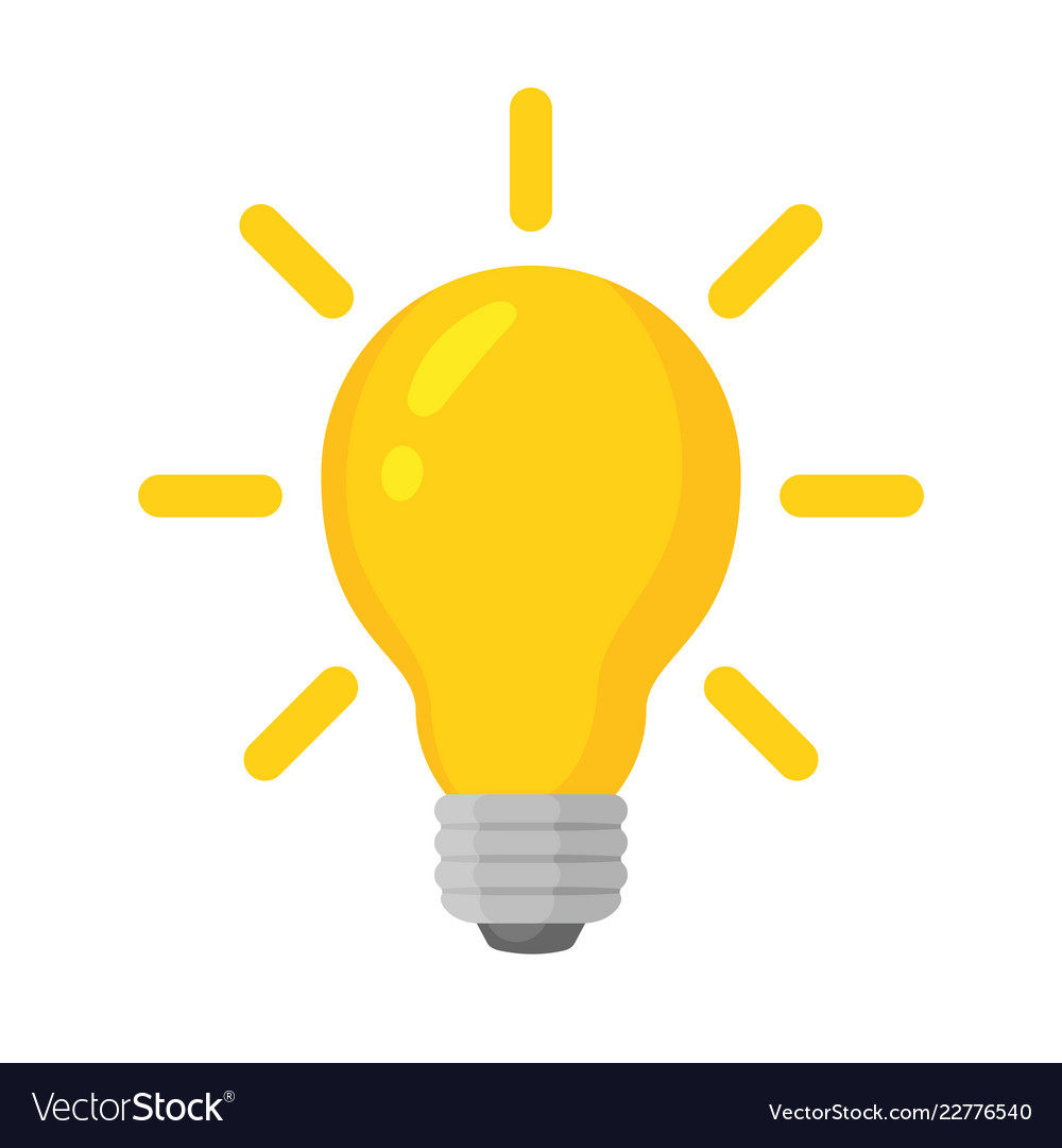 Light bulb with concept of