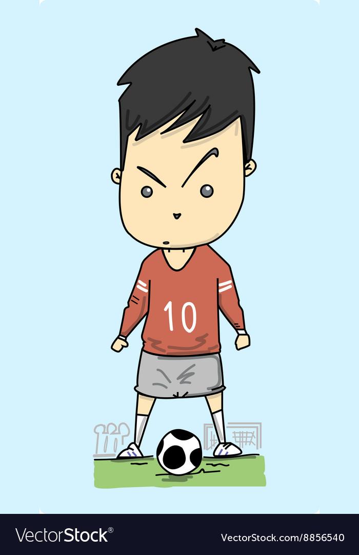 Man play football