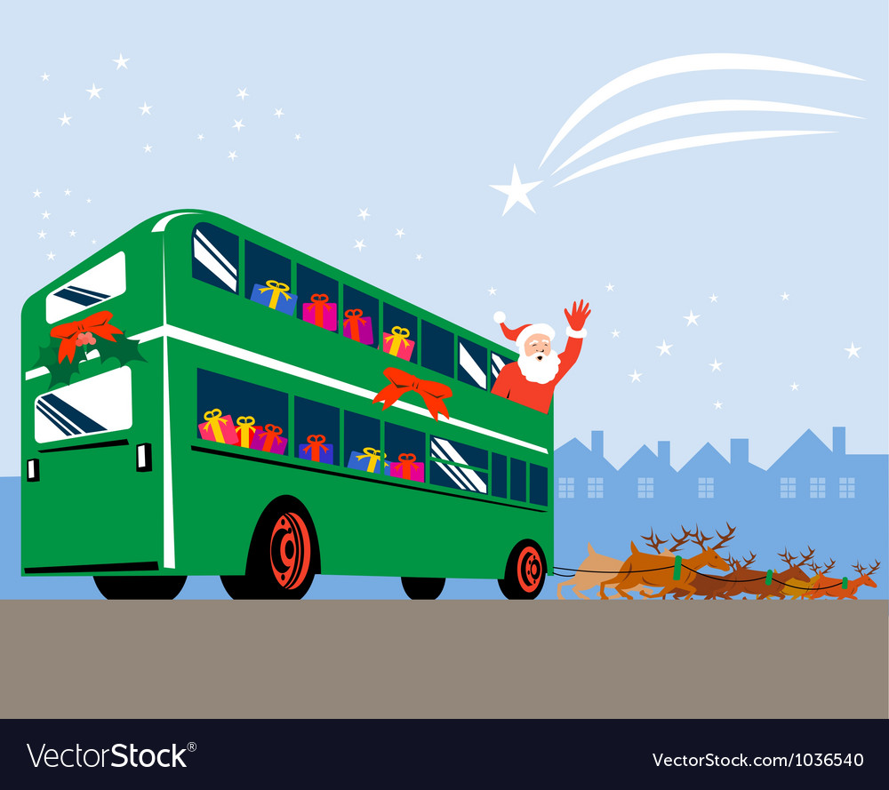 Santa Claus Double Decker Bus