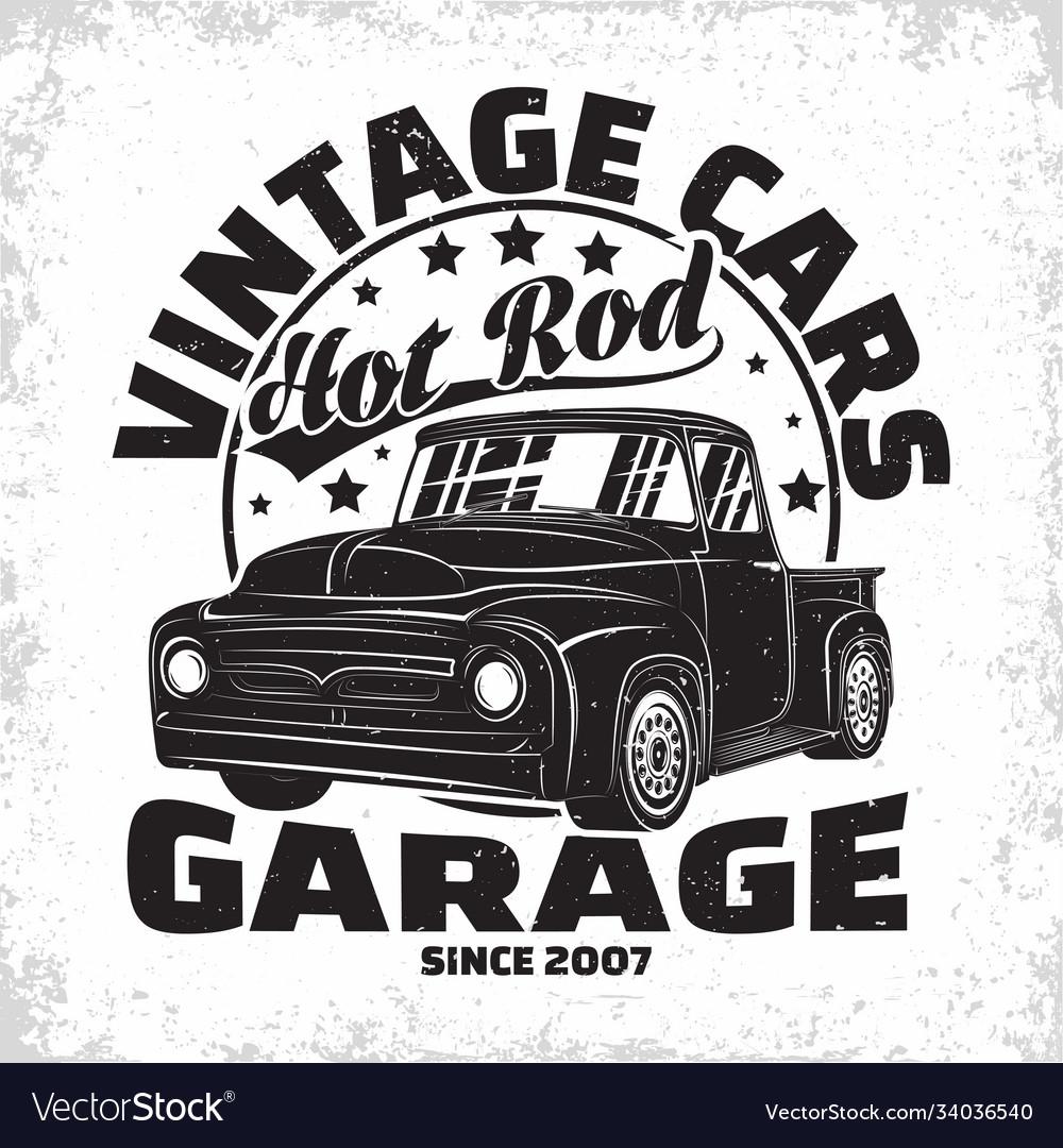 Vintage cars garage emblem