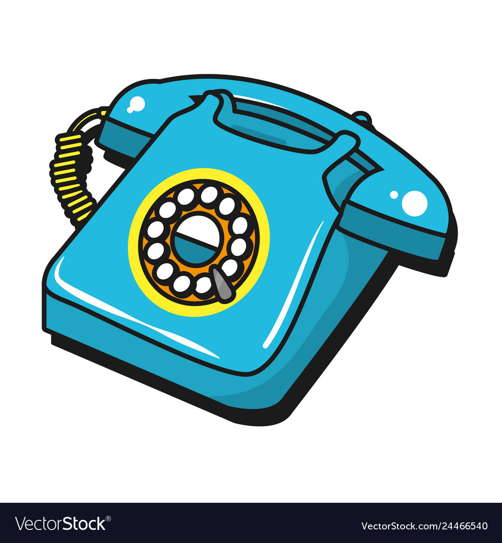Vintage Telephone Cartoon Royalty Free Vector Image