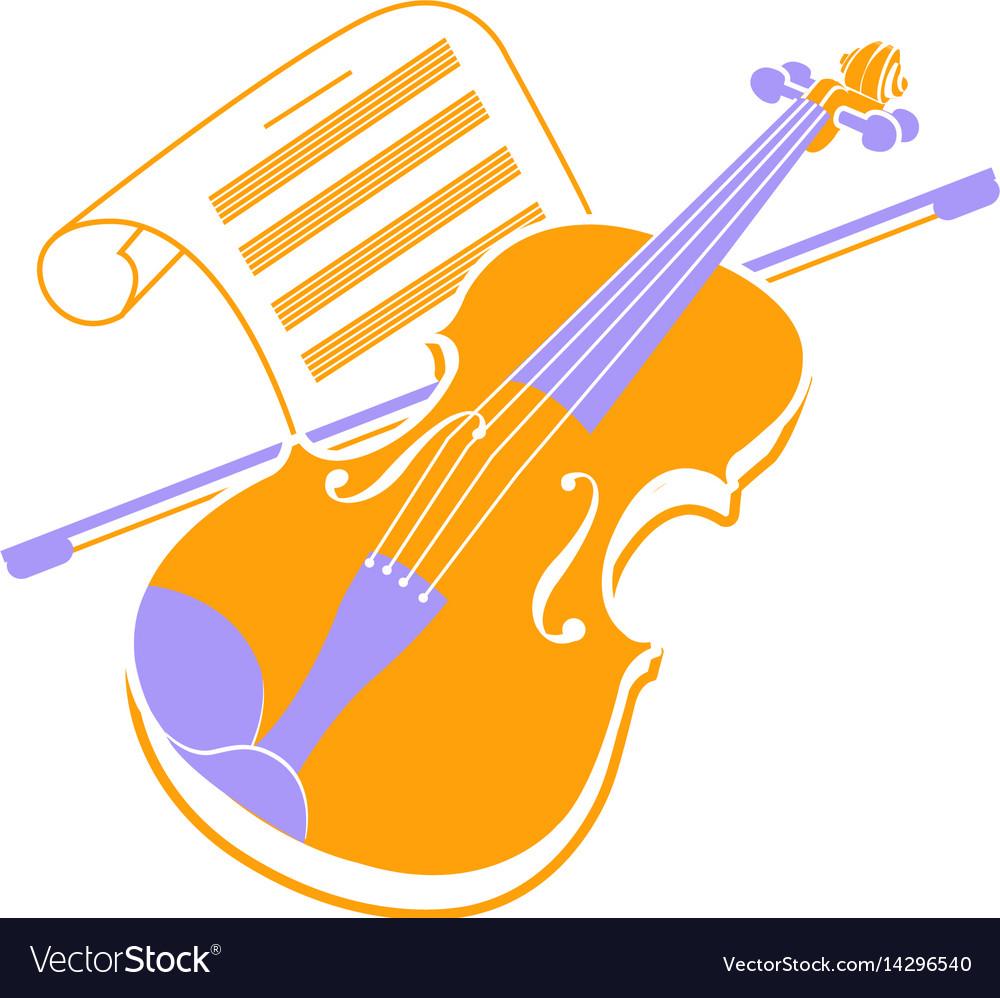Violin icon and music books 2